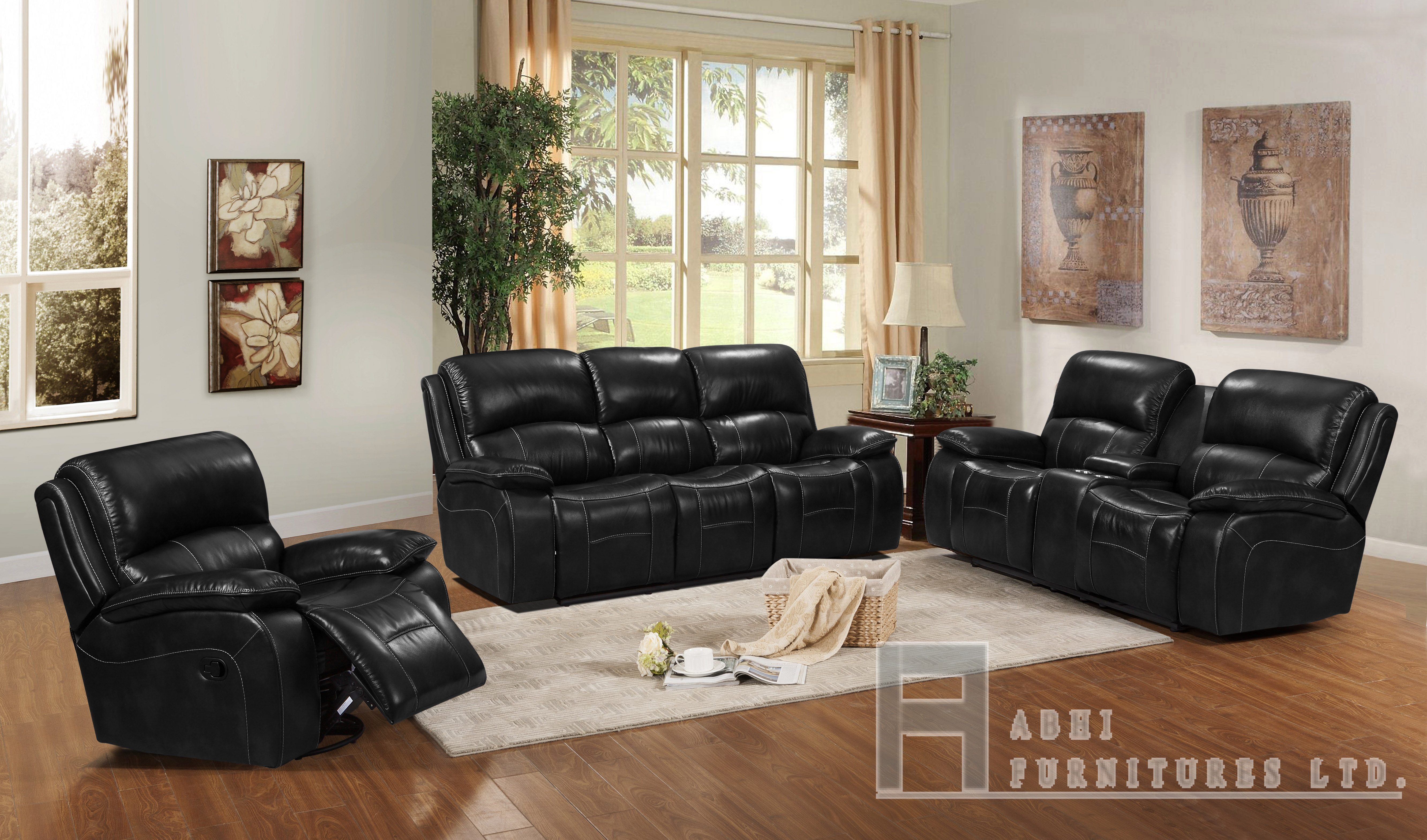 2465 Power Recliner Black
